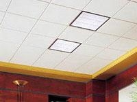 Потолок из плит из минерального волокна