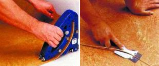 Настил и ремонт покрытий из линолеума