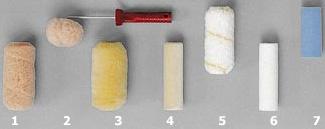 Материалы шубок для малярных валиков
