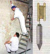Измерение перепадов стены