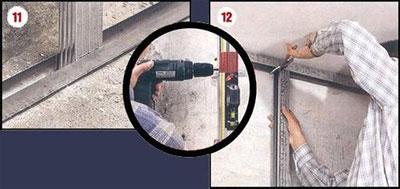 Этапы выравнивания стен гипсокартоном 11-12