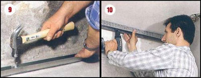 Этапы выравнивания стен гипсокартоном 9-10