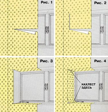 Вариант. 1 - Оклейка обоями стен примыкающих к окнам