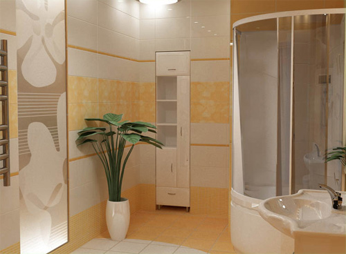 Интерьер ванной комнаты (фото-11)