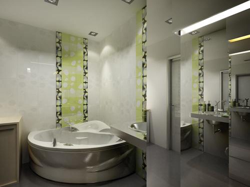 Интерьер ванной комнаты (фото-12)