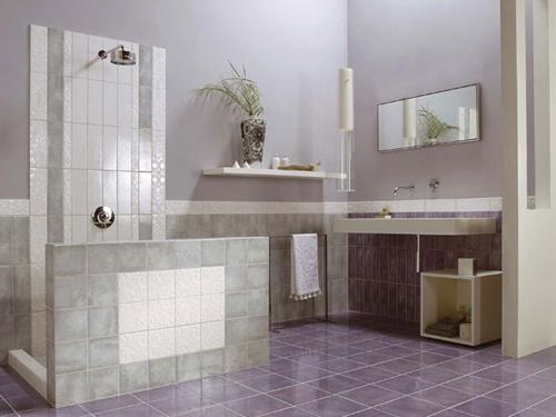 Интерьер ванной комнаты (фото-18)