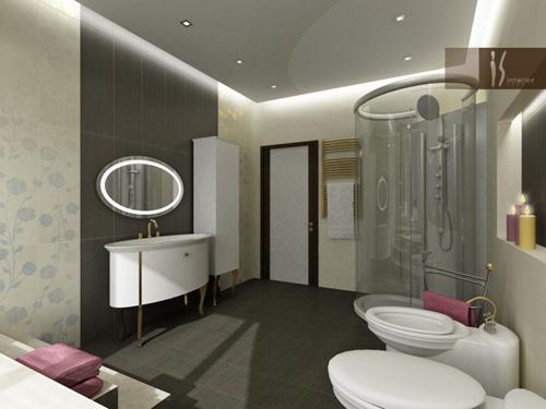 Интерьер ванной комнаты (фото-2)
