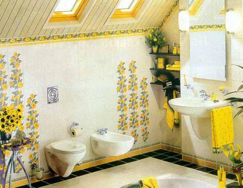 Интерьер ванной комнаты (фото-24)
