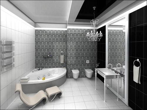 Интерьер ванной комнаты (фото-5)