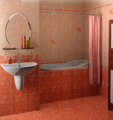 Интерьер ванной комнаты (фото-6)