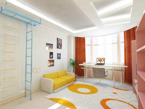 Интерьер детской комнаты (фото-18)