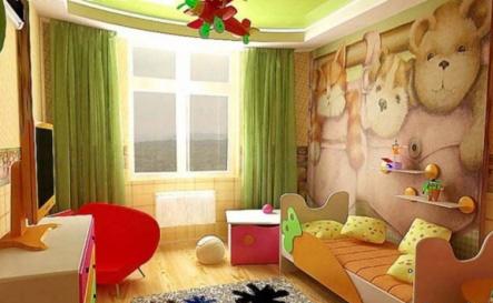 Интерьер детской комнаты (фото-20)