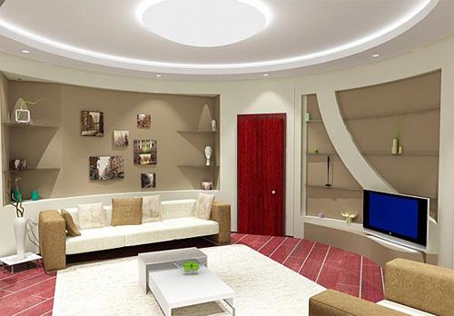 Интерьер гостиной (фото-23)