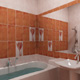 Интерьер ванной комнаты (фото-8)